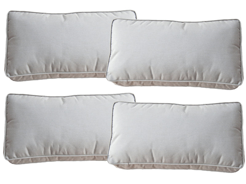 Set of 4 Taupe Sunbrella Fabric Scatter Cushions - Alexander Francis