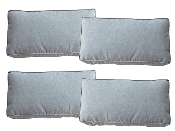 Set of 4 Slate Grey Sunbrella Fabric Scatter Cushions - Alexander Francis