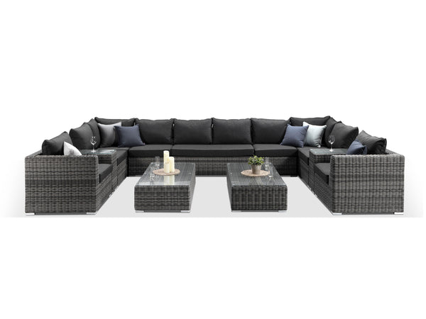 Verona Large Grey U Shaped Sofa Set - Alexander Francis