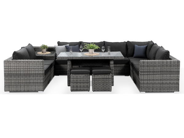 Verona Grey Sofa Dining Set With Corner Table - Alexander Francis
