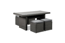 Tosca Children's Grey Outdoor Garden Dining Set with Four Stools