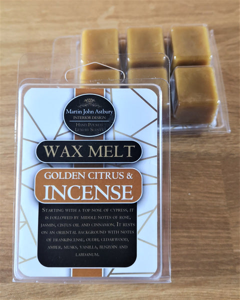 Golden Citrus & Incence Wax Melt