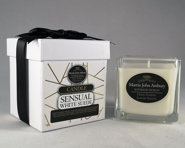 Sensual White Suede Candle