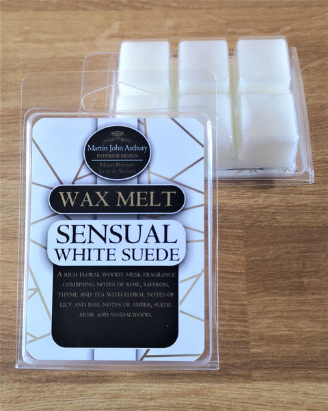 Sensual White Suede Wax Melt