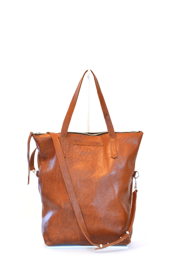 #24 Two Way Tote / High Shine Acorn