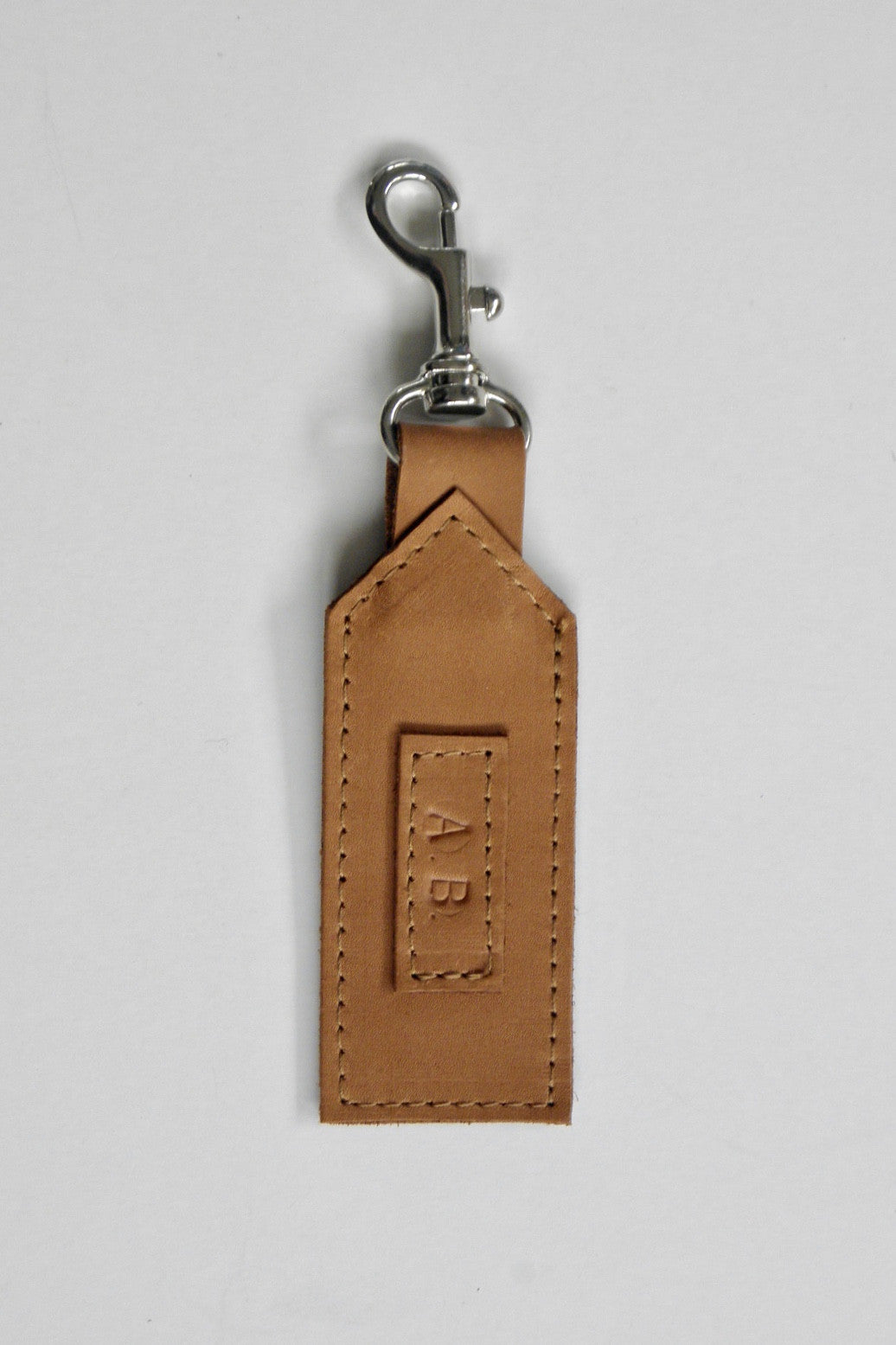 Initialed Luggage Tag / Tobacco