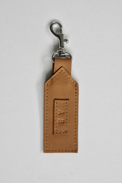 Initialed Luggage Tag / Oily Boot Tan