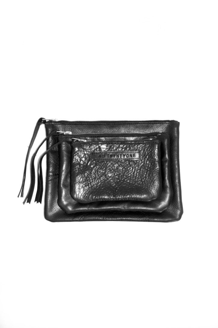 #21 Small Pouch / High Shine Black