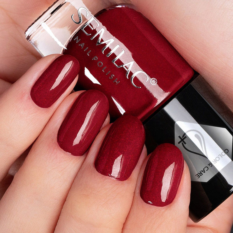 Semilac Nail Polish Colour & Care C573 Shimmer Red - Semilac Shop