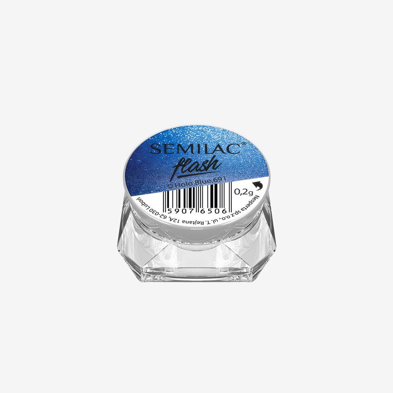 Semilac Flash Holo Blue 691 - Semilac Shop