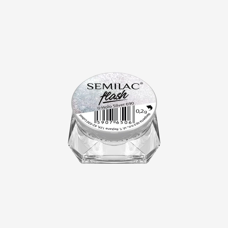 Semilac Flash Holo Silver 690 - Semilac Shop
