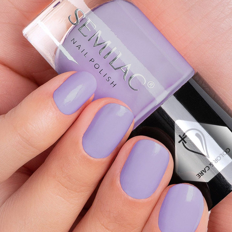 Semilac Nail Polish Colour & Care C710 Violet - Semilac Shop