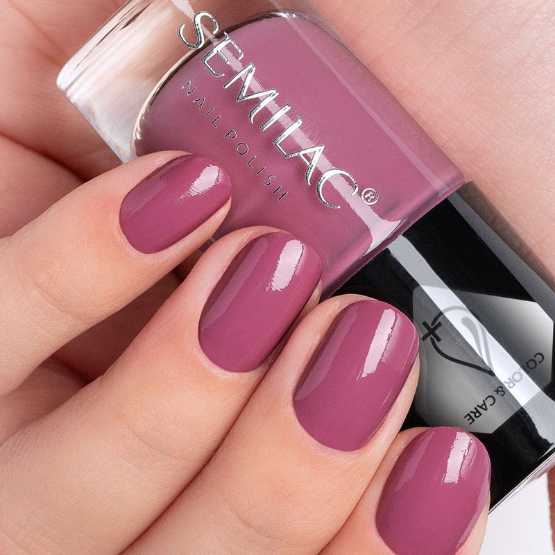 Semilac Nail Polish Colour & Care C745 Dark Pink - Semilac Shop