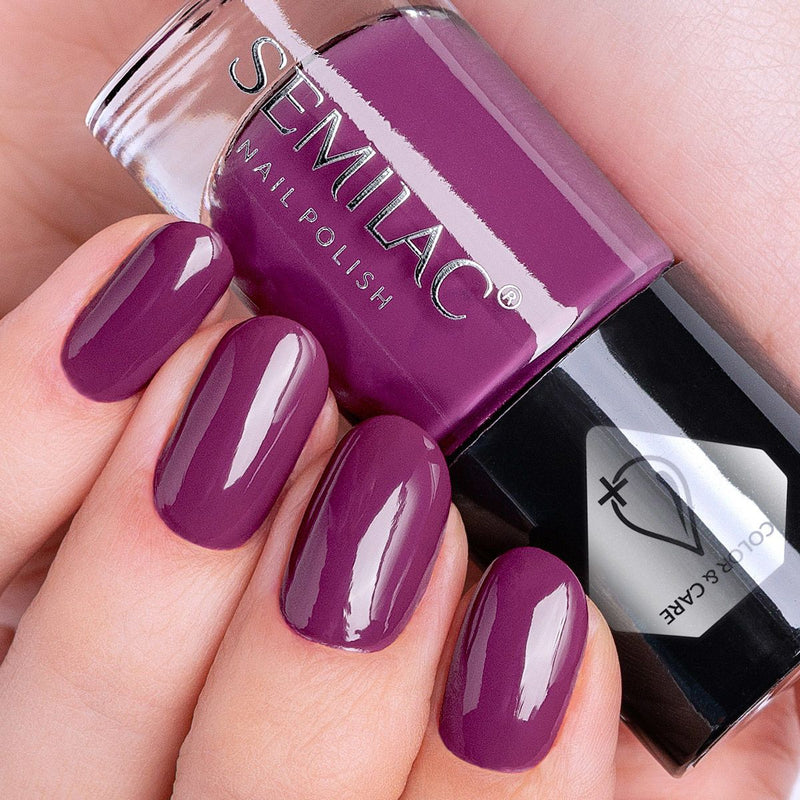 Semilac Nail Polish Colour & Care C760 Violet - Semilac Shop