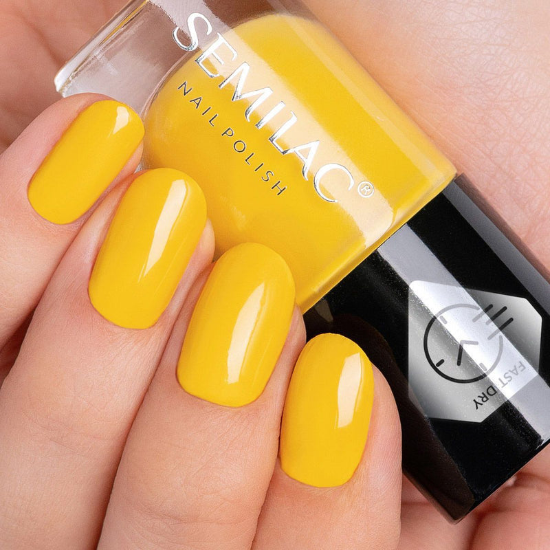 Semilac Nail Polish Fast Dry C340 Yellow - Semilac Shop