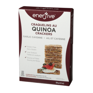 Enerjive Garlic Cayenne Quinoa Crackers - Mimi and Ry Produce