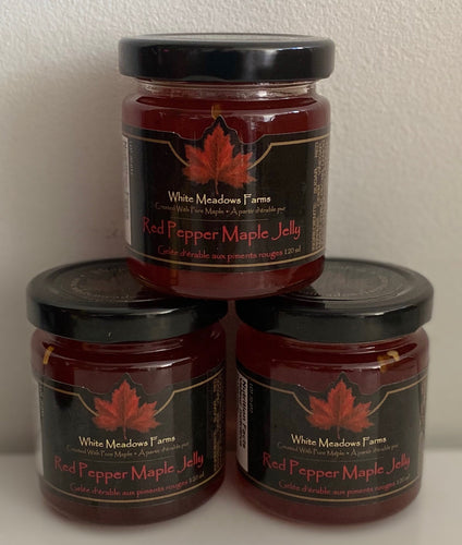 Red Pepper Maple jelly - Mimi and Ry Produce