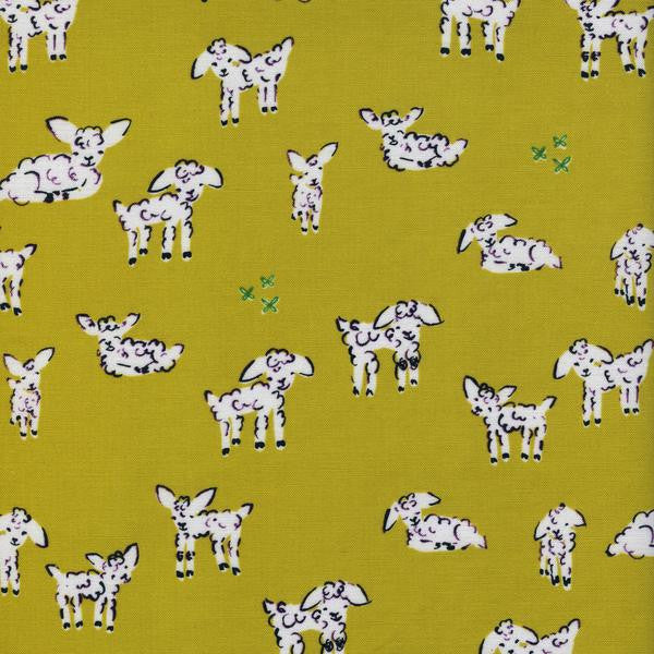Clover - Little Lambs (Green) ⎮ Broadcloth