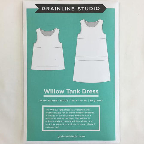 Grainline Studio - Willow Tank Dress ⎜Apparel Pattern