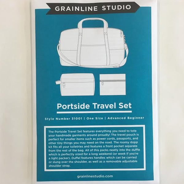 Grainline Studio - Portside Travel Bag Set | Apparel Pattern