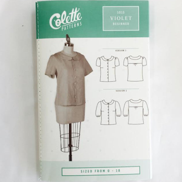 Colette Violet Shirt⎜Apparel Pattern