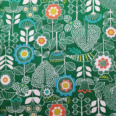 Good Taste - Scandinavian Flowers (Green) | Canvas