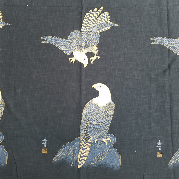 Noren Panel - Two Eagles (Navy) | Broadcloth