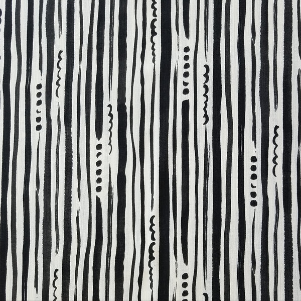 Kokka - Black & White Stripe | Creped Double Gauze