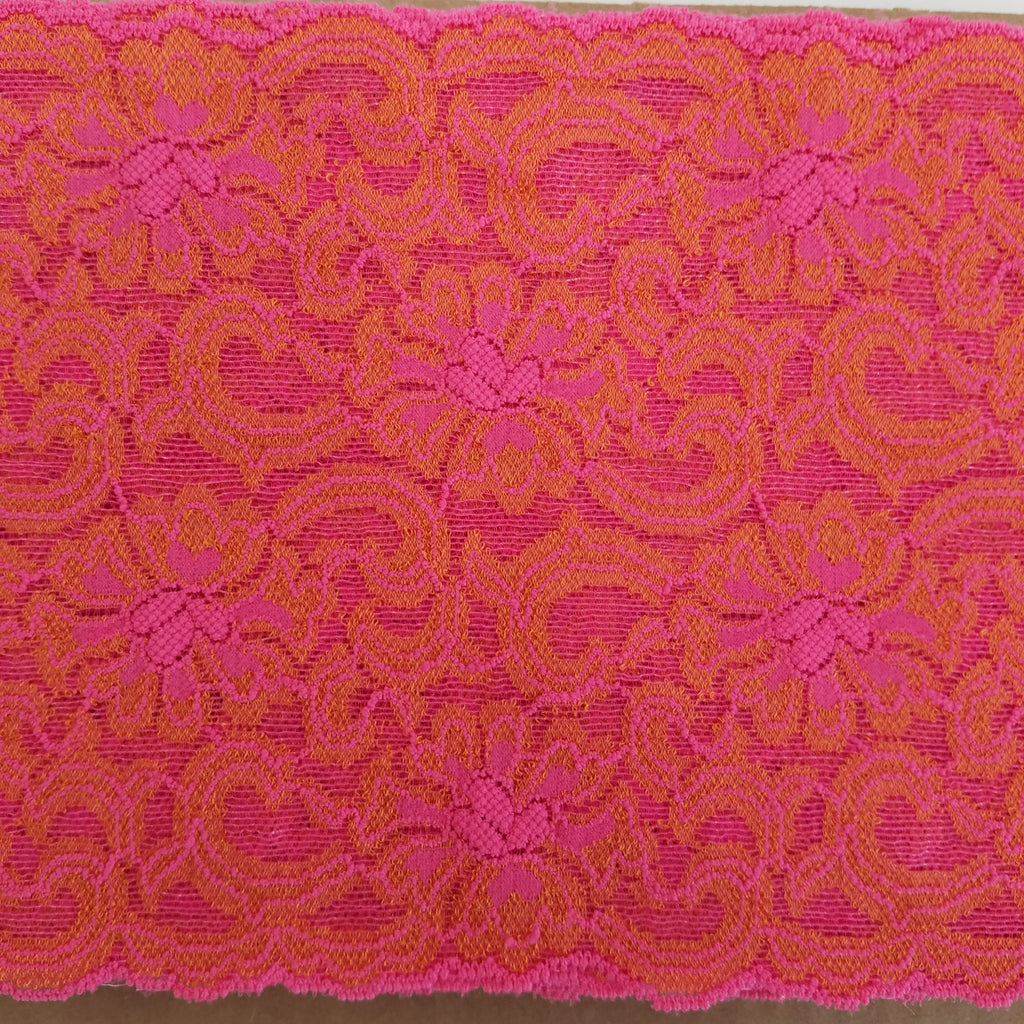 Wide Stretch - (Hot Pink/Orange) | Lace