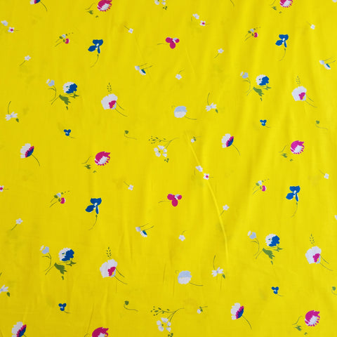 Hokkoh -  Spring Flowers (Canary) | Cotton Lawn