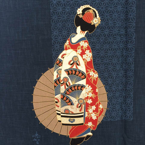 Noren Panel - Geisha (Indigo) | Broadcloth