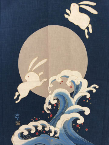 Noren Panel - Rabbits (Indigo) | Broadcloth