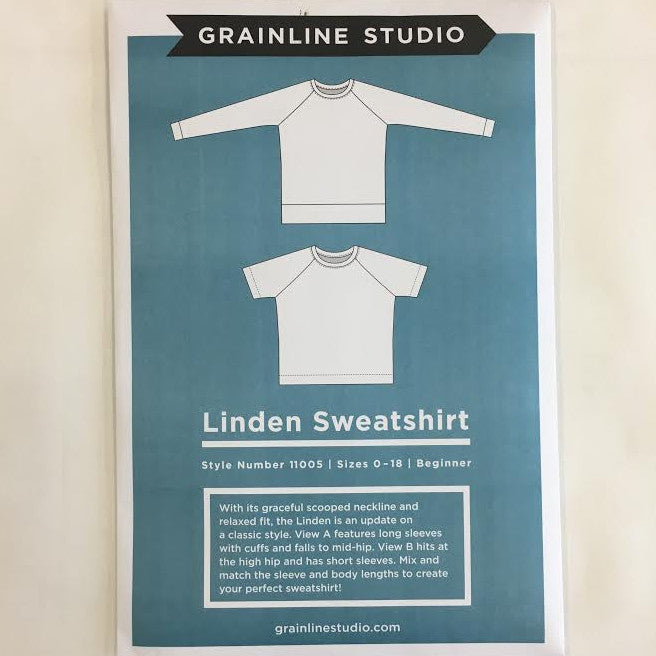 Grainline Studio - Linden Sweatshirt⎜Apparel Pattern