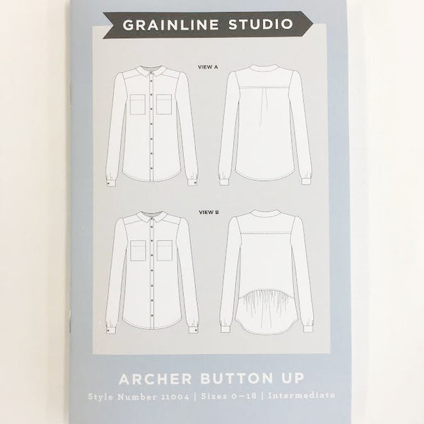 Grainline Studio - Archer Button Up Shirt⎜Apparel Pattern