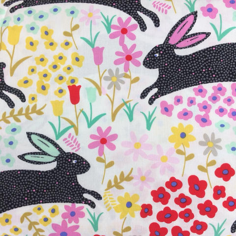 In The Kitchen - Bunny Run (Black) | Broadcloth