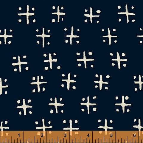 Twilight- Criss Cross (Indigo) | Mud Cloth