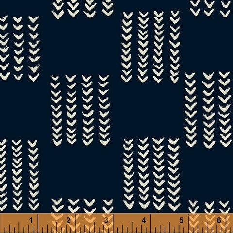 Twilight- Knitted Square (Indigo) | Mud Cloth
