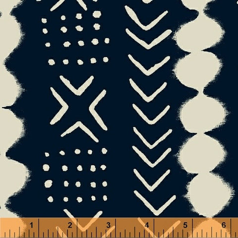 Twilight- Motif Stripe (Indigo) | Mud Cloth