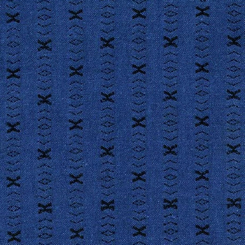 Intermix - X Pattern Cotton Dobby (Blue) | Chambray