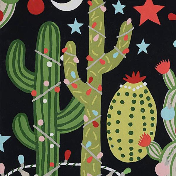 Christmas Time - Cactus Christmas (Black/Multi) | Broadcloth