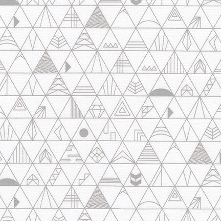 Panache- Symbol Triangle (White) | Broadcloth