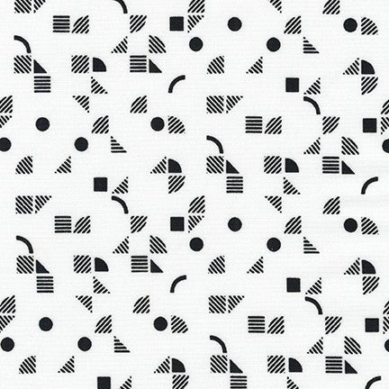 Panache- Geometric (White) | Broadcloth