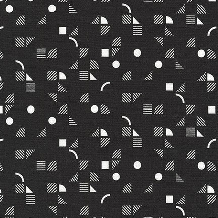 Panache- Geometric (Black) | Broadcloth