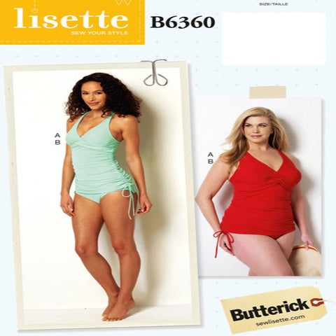 Lisette No. B6360 Swimsuit SIZE 18W-24W | Apparel Pattern