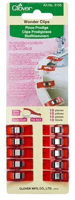 Wonder Clips 10 count  (red/multicolor) | Notions
