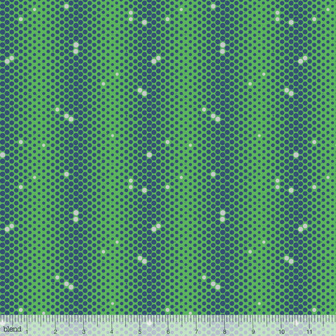 Monsters vs Robots - Comic Dot (Green) | Broadcloth