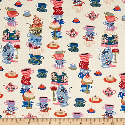 Wonderland - Mad Tea Party (Neutral) | Broadcloth