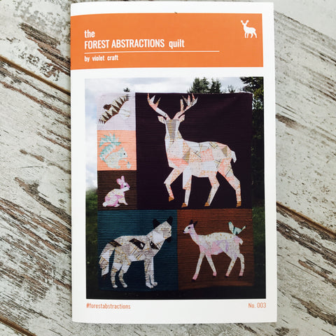 Violet Craft - Forest Abstractions: Forest Animals Quilt | Pattern