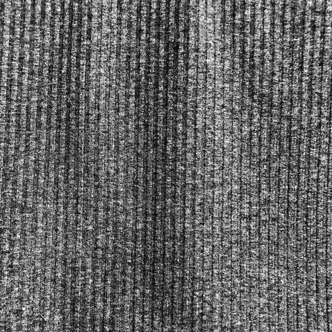Ribbed Knit (Charcoal) | Knit
