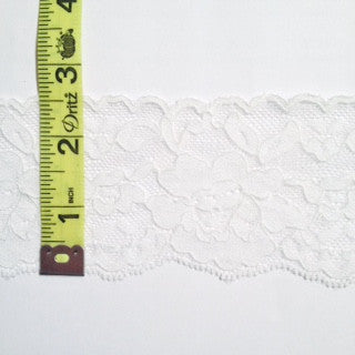 Stretch Lace - (White) | Lace